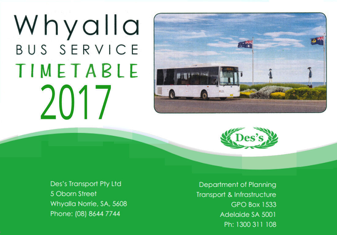 Whyalla Bus Service - Timetable 2017